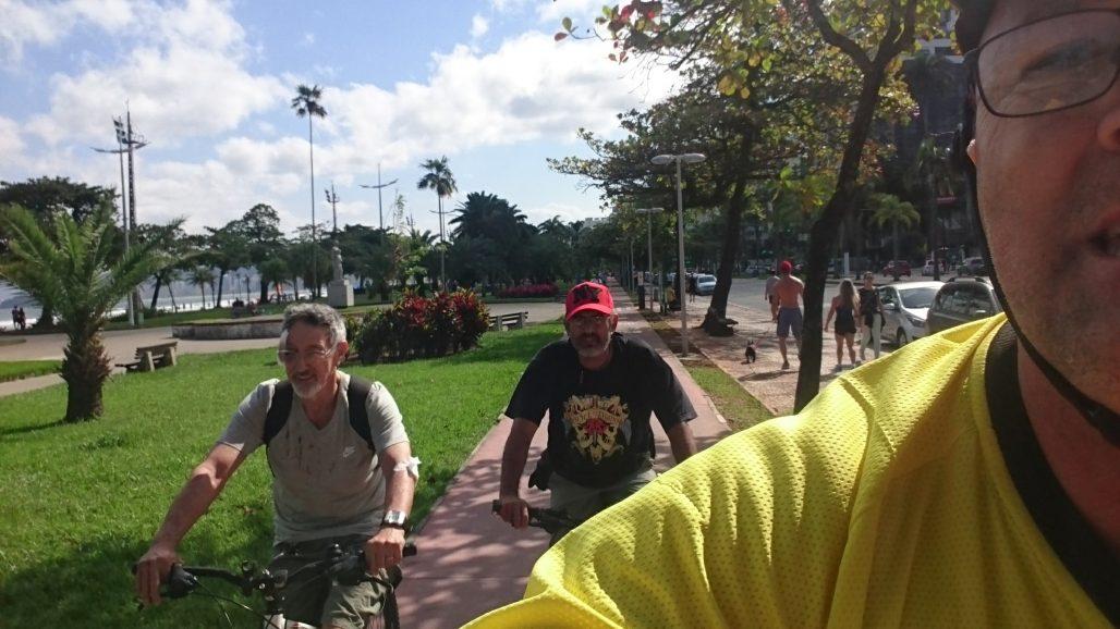 Queríamos que ele voltasse de Uber, mas ele resolveu pedalar.