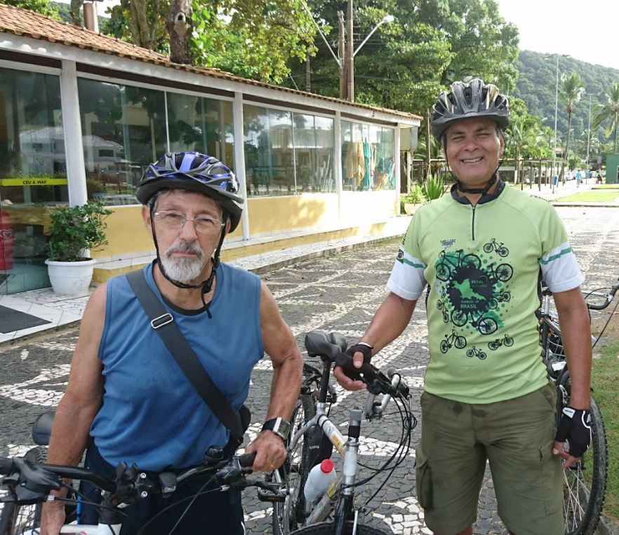 Leo no Pedal Matinal do Guarujá (PMG) com Luis Campos