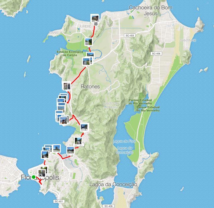 Primeiro Pedal em Floripa, 36 km