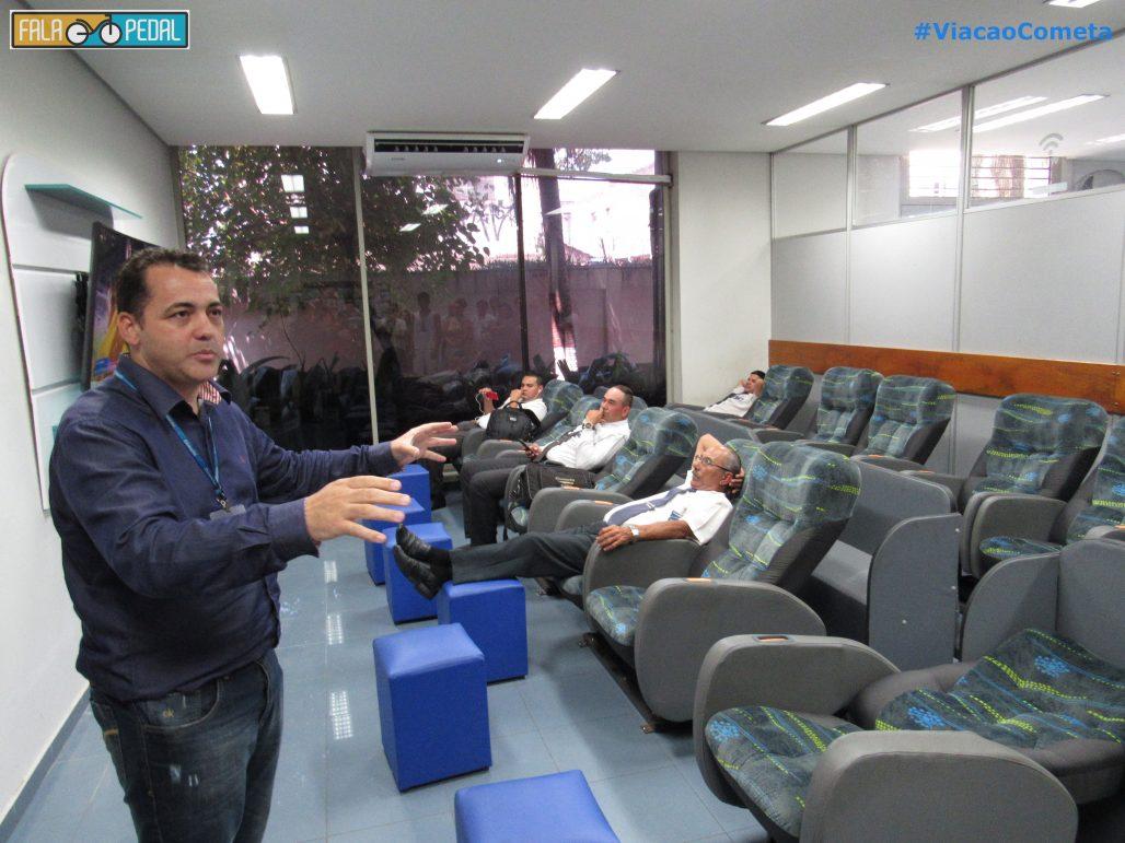 José Nogueira, resp. por Operação Matriz, nos apresenta a sala de descanso e relaxamento para os motoristas.